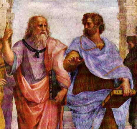 "plato and aristotle from ""School of Athens"""