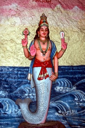 Divine Fish devoted to Manu